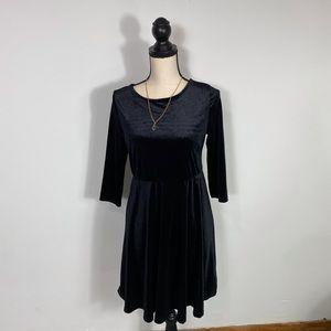 Woman's Black Velvet  Holiday Dress